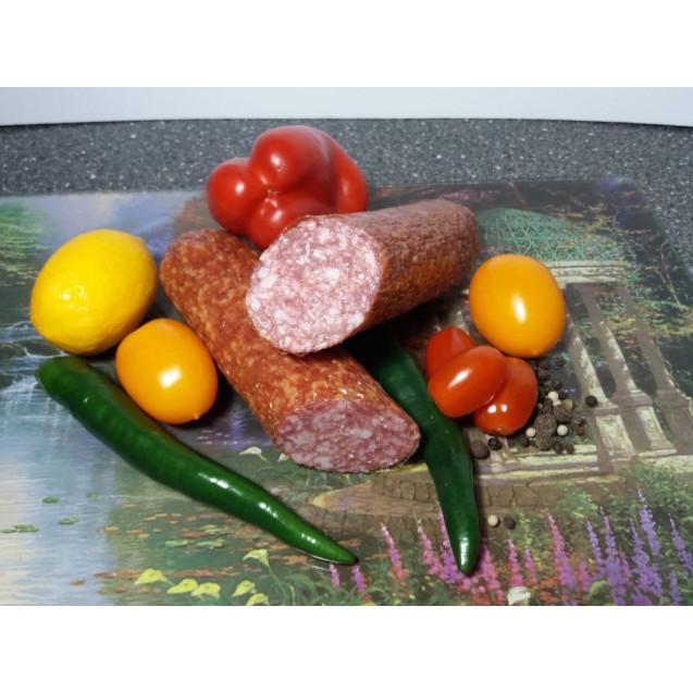 """Колбаса полусухая """"Дель Торо"""" сырокопченая (вес одного батона около 400 гр.) вакуум, """"Сытый смолянин"""", Смоленск, 1 кг"""