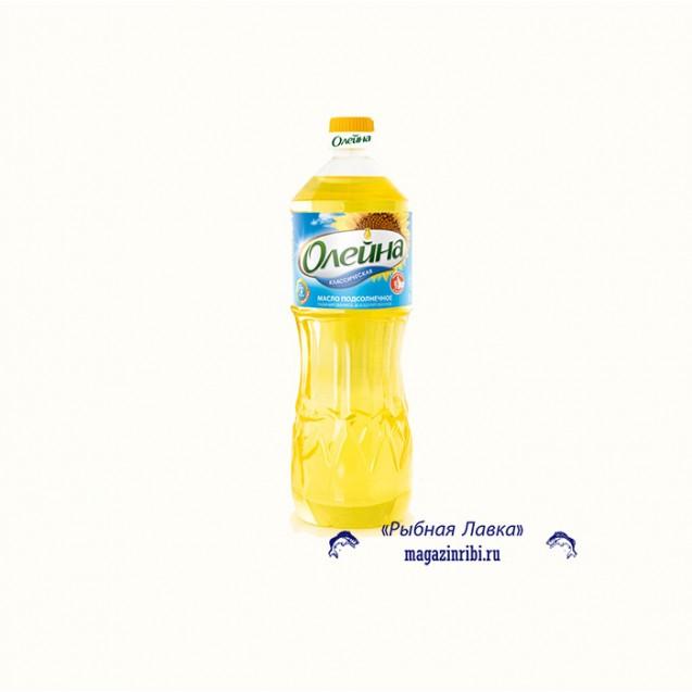 """Масло подсолнечное, рафинированное """"Олейна"""", 1 л"""