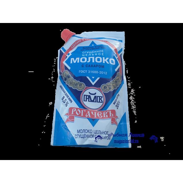 """Сгущенное цельное молоко с сахаром """"Рогачев"""", Беларусь, 300 гр."""