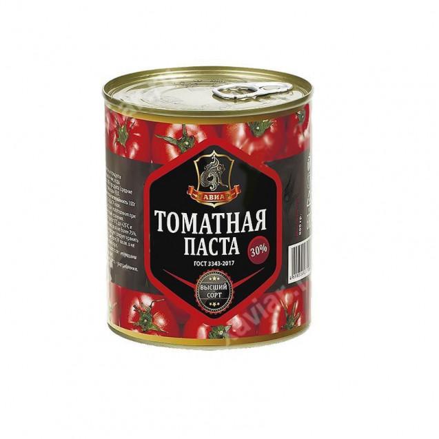"Томатная паста ""Хавиар"", ключ, высший сорт, Краснодарский край, 400 гр."