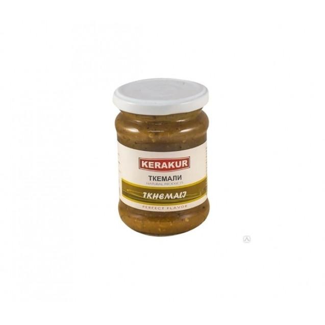 """Ткемали зеленое (алыча, сахар, соль, чеснок, специи) """"Керакур"""", Армения, 270 гр."""