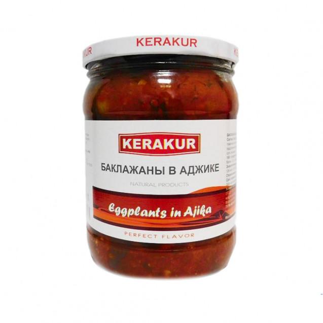 Баклажаны жареные в аджике (KERAKUR) Армения, 480 гр.