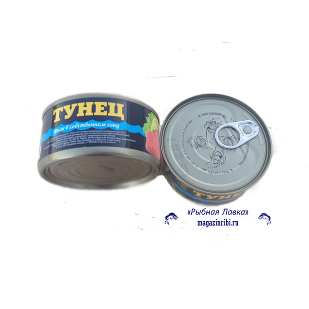 "Тунец филе в собственном соку ""ХАВИАР"" (ключ), Тайланд, 185 гр."