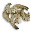 Креветка королевская сыромороженая, без головы, 26/30, без льда, Индия, 1 кг