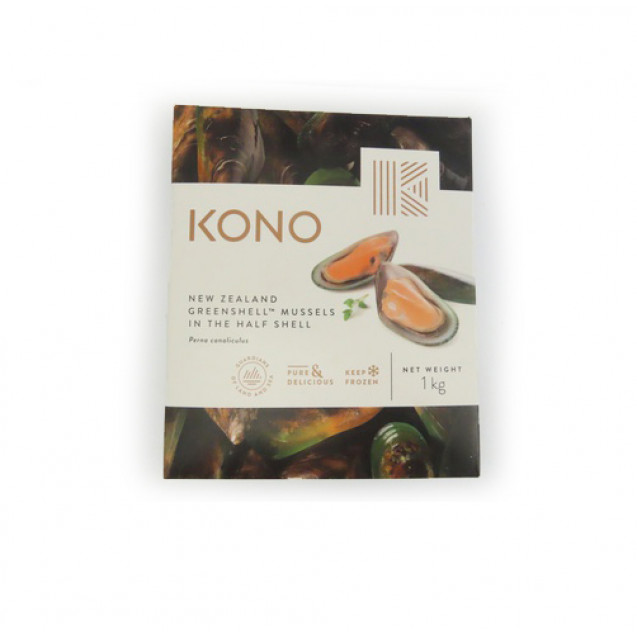 Мидии киви на половинках раковины (30/45) Новая Зеландия, 1 кг