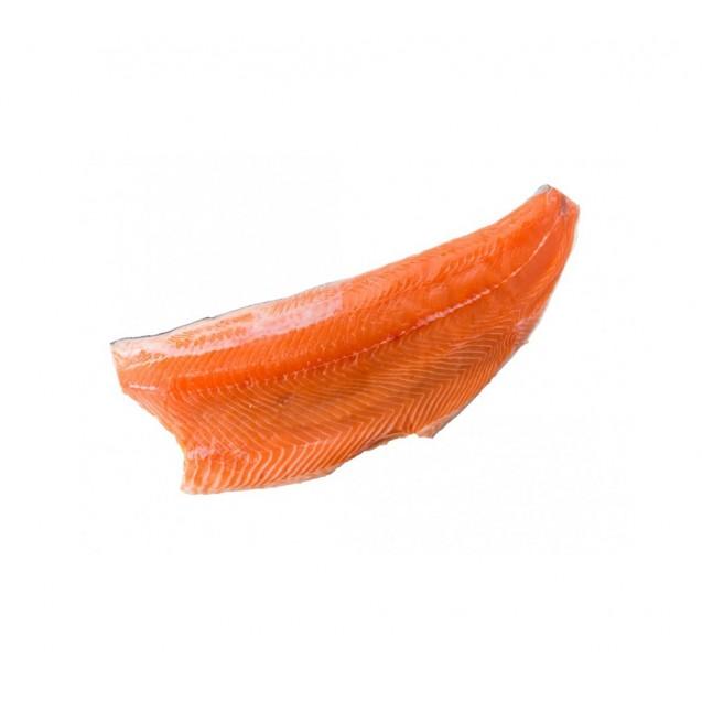 Филе форели холодного копчения (из охлажденного сырья), на коже, замороженное (около 1,1 кг), вакуум, Россия, 1 кг