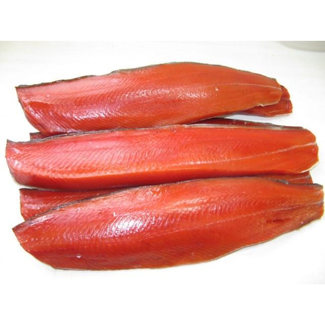 Филе кеты (Дикий лосось) на коже, штучной заморозки, Дальний Восток, 1кг