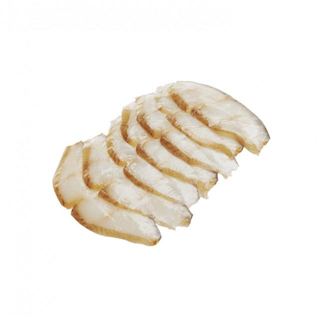 Палтус филе - ломтики холодного копчения, замороженный, Россия, 200 гр.