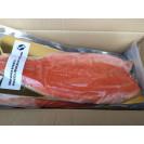 Филе семги слабосоленое (из охлажденного сырья) на коже (Трим D) замороженное (около 2+ кг) вакуум, Россия, 1кг