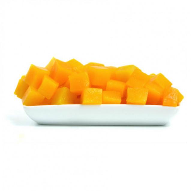 Персик нарезанный кубиками, замороженный, Россия, 1кг